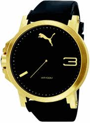 men s puma gold left handed oversized watch pu102941004 8 gif