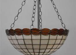 vintage bent slag leaded glass chandelier pendant light fixture lights and lamps