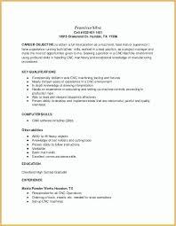 Cnc Machinist Resume 30 Cnc Operator Resume Pipeline Claims