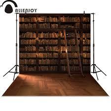 <b>Allenjoy photography backdrops</b> Library Bookshelf school student ...