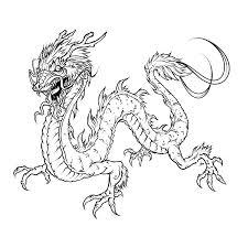 Chinese Draak Met Veel Detail Dragons Dragon Coloring Page