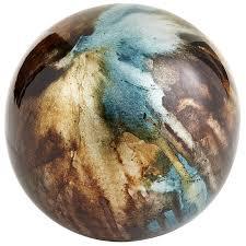 Decorative Balls For Bowl Taupe Turquoise Foil Decorative Sphere Pier 100 Imports 88
