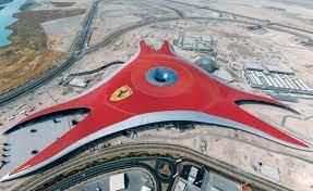 The building itself will house dark rides, cinemas and rides. Ferrari World Abu Dhabi Reynaers Aluminium