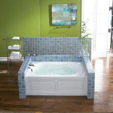 jacuzzi eps6042wlr1a almond 60 x 42 espree three wall alcove whirlpool bathtub with 10 jets pneumatic controls left drain and right pump faucet com