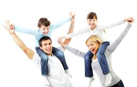 happy family pas giving children piggyback ride expressmed urgent care occupational health