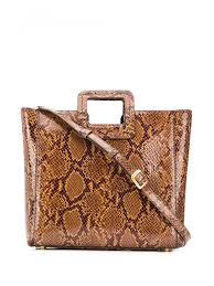 Staud Handbags Shirley Leather Handbag Brown