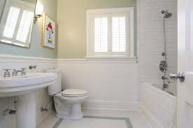 Image Paneling Bathroom With Beadboard And Subway Tiles Pinterest Bathroom With Beadboard And Subway Tiles Home Beadboard