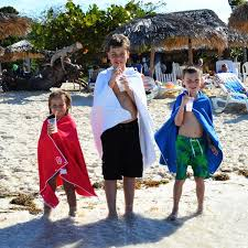 Kids Beach Towels Play Mat Travel Towel for Kids Wearable Kids