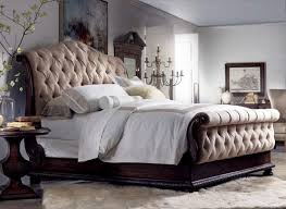 tufted upholstered sleigh bed. Contemporary Upholstered Traditional Button Tufting Brass Nailhead Trimupholstered Sleigh Bed With  Lightly Distressed Rustic Walnut Finish In Tufted Upholstered Sleigh Bed E