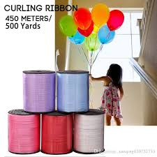 1roll 500yards balloon ribbon roll diy roll crafts foil curling wedding birthday party gift flower bouquet cards decorations k2 helium balloon helium