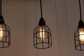 reclaimed pallet light chandelier advertisements caged bulbs
