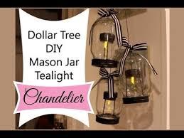 dollar tree diy mason jar tealight chandelier