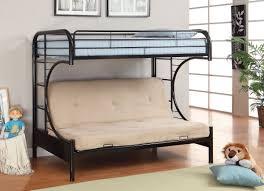 black metal bunk bed. Furniture Of America CM-BK1034BK Rainbow Black Metal Twin Over Futon Bunk Bed B