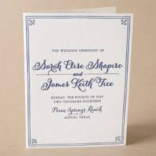 Wedding Ceremony Program Cover Wording And Etiquette Ideas For Wedding Programs From Bella Figura