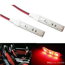 red 3 smd car led strip light lamps for motorcycle under glow lighting 12v dc diy led work lights led work lights for from hobo068 40 21 dhgate com