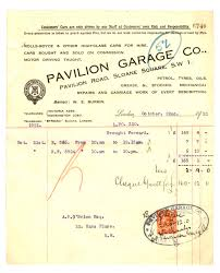 pavilion garage company invoice page treaty pavilion garage company invoice 22 1921 page