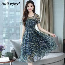Online Shop 3XL Plus size Summer Floral Chiffon Boho sundress ...
