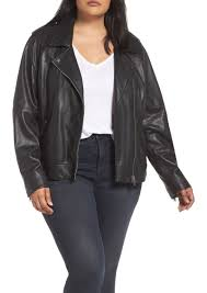 lucky brand core leather moto jacket plus size