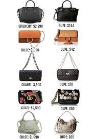 Chloe Designer Bags Designer Dupe Chanel Bags Scale
