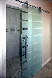 amazing frameless sliding shower door hardware barn style glass doors s s s barn style sliding glass shower