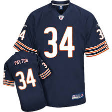 Hot 34 Authentic Walter Payton Navy Blue Reebok Nfl Home