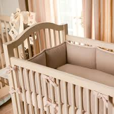 light pink linen crib per