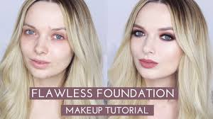 flawless foundation without concealer makeup tutorial mypaleskin ad