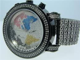 mens diamond watches joe rodeo best watchess 2017 10 ct custom mens joe rodeo white diamond black stainless