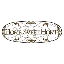 three hands metal wall decor sweet home finished in gold 43 75 x 0 5 x