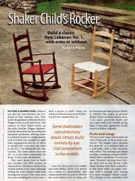 childs shaker rocking chair plans