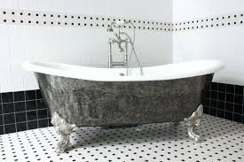 unique clawfoot tub with steel faucetshort shower curtain short