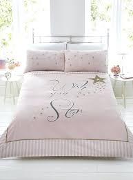 rose gold bedding set wish upon a star pink gold stripe duvet quilt cover bedding set