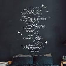 Wandtattoo Aufkleber Spruch Glück Zeit Mit Menschen Sterne Wanddeko M2449