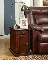 signature design by ashley t127565 laflorn collection chairside end table um brown you can end tables with storagewood