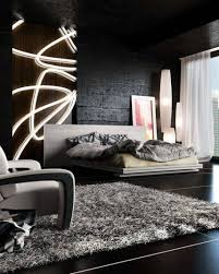 white shag rug in bedroom. Home Design And Decor , Black Bedroom Ideas To Decorating : Modern With White Shag Rug In C