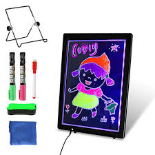 How To Make Led Design Board Slsy Led Writing Board Usb 12 8 X 9 4 Erasable Neon Illuminated Kids Drawing Board Double Sided Message Board With 2 Fluorescent Markers For Kid