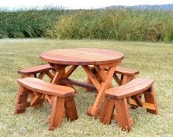picnic bench kit round wood picnic table kit woods bench hexagon picnic table plans round wooden