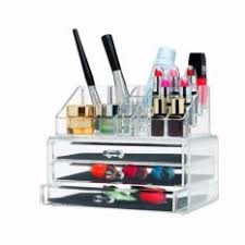 cosmetic organizer makeup and jewelry storage case display