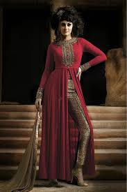 Images Of Designer Party Wear Salwar Kameez Georgette Party Wear Designer Salwar Suit In Red Colour