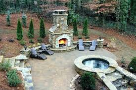 outdoor stone fireplace. Outside Stone Fireplace Ideas Outdoor Backyard S Pics