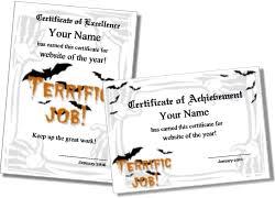 Costume Contest Certificate Template Printable Halloween Certificates And Award Templates