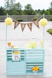 wooden crate lemonade stand