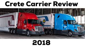 Crete Carrier Shaffer Trucking Review Training Company Driver Owner Operator Pay 2018