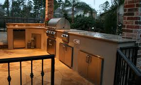 Flagstone Flooring Kitchen Houston Outdoor Kitchens Spring Outdoor Fireplace Photos