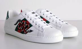 gucci shoes snake. women gucci white leather ace snake embroidery sneakers men lace up shoes i