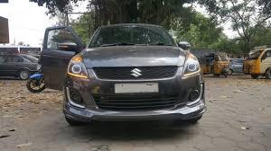 Swift Car Led Lights Swift Modified Headlights Car Projector Led Drl Light New Maruti Swift Headlight Modifications