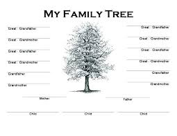 Template Free Family Tree Template With Siblings And Cousins For A