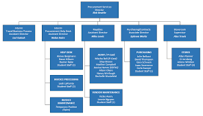 Organization Chart Procurement Services
