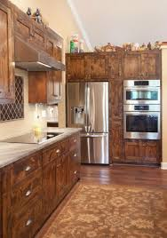 stained knotty alder shaker style kitchen cabinetry woodwright s custom woodwork