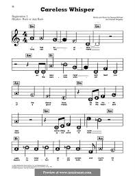 Careless whisper sheet music free. Careless Whisper By A Ridgeley G Michael Sheet Music On Musicaneo